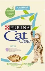 Пауч для котят, Purina Cat Chow, индейка с кабачками в желе