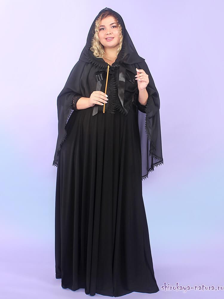 Шифоновая шаль-накидка Очарование чёрный