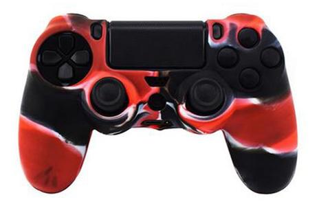 Чехол для геймпада DualShock 4 (камуфляж красный) + накладки