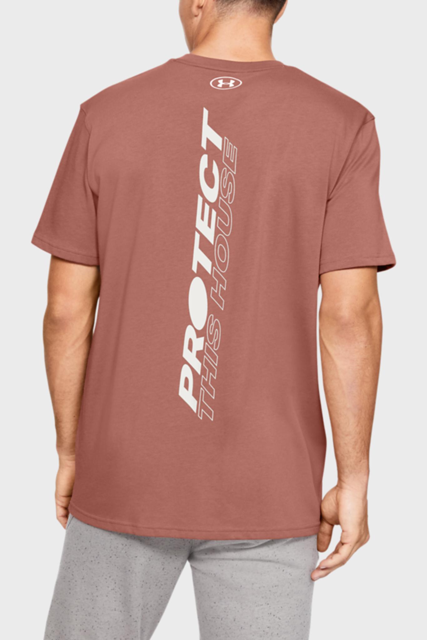 Мужская коричневая футболка UA PTH BACK SS Under Armour