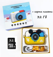 Детский фотоаппарат Микки + Микро Сд карта 32 Гб в подарок
