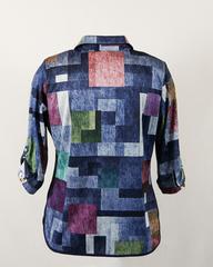 Блузка Laura Canorra 1714 батник квадраты