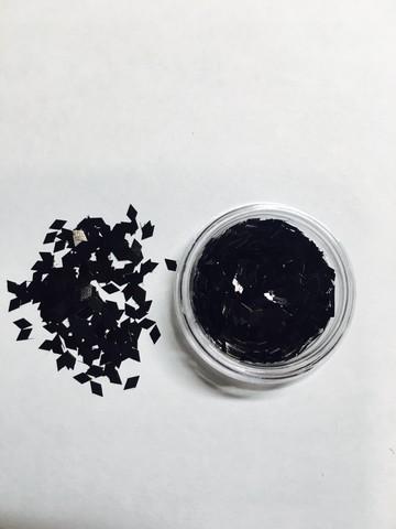Ромбики для дизайна ногтей/ черный цвет купить за 80руб