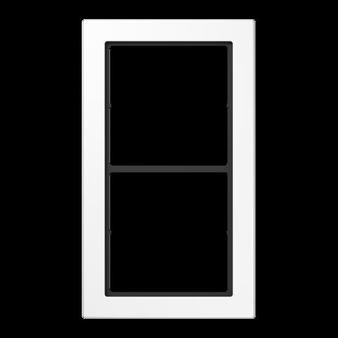 Рамка на 2 поста. Цвет Белый. JUNG FD - ДИЗАЙН. FD982WW
