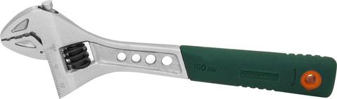 W27AT6 Ключ разводной эргономичный с пластиковой ручкой, 0-19 мм, L-150 мм