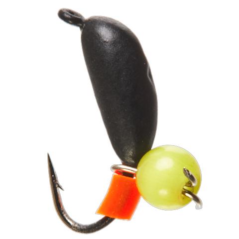 Мормышка вольфрамовая БАНАН с петел. и бисером кошачий глаз, 2.5 мм, цвет 10, арт. LJ11025-10