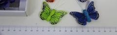 Бабочки декоративные перьевые, 5*3,5 см, 1 шт.
