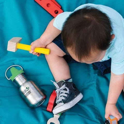 Детская бутылка Klean Kanteen Kid Classic Sippy 12oz (355 мл) Sharks