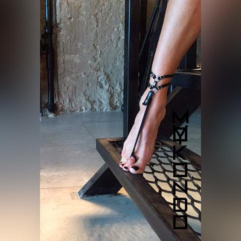 MyMokondo Браслет на ногу Серпенс (Черный, one size)