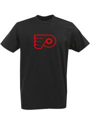 Футболка с однотонным принтом НХЛ Филадельфия Флайерз (NHL Philadelphia Flyers) черная 005