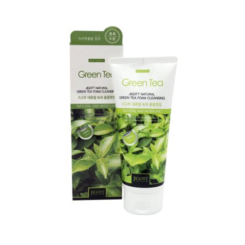 Очищающая пенка Jigott Natural с экстрактом зеленого чая 180 мл