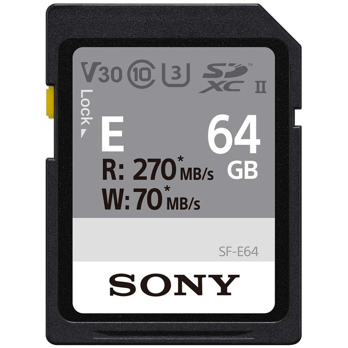 Sony SF-E64 карта памяти SD XC, 64 Гб