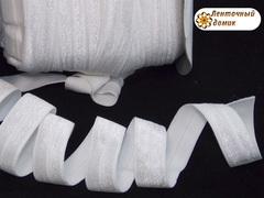 Резинка для повязок  с легким блеском белая 16 мм
