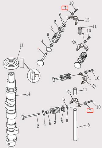 Гайка M6X0.75 для лодочного мотора F9.8 Sea-PRO (4-7)
