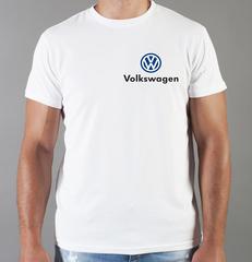 Футболка с принтом Фольксваген (Volkswagen) белая 003
