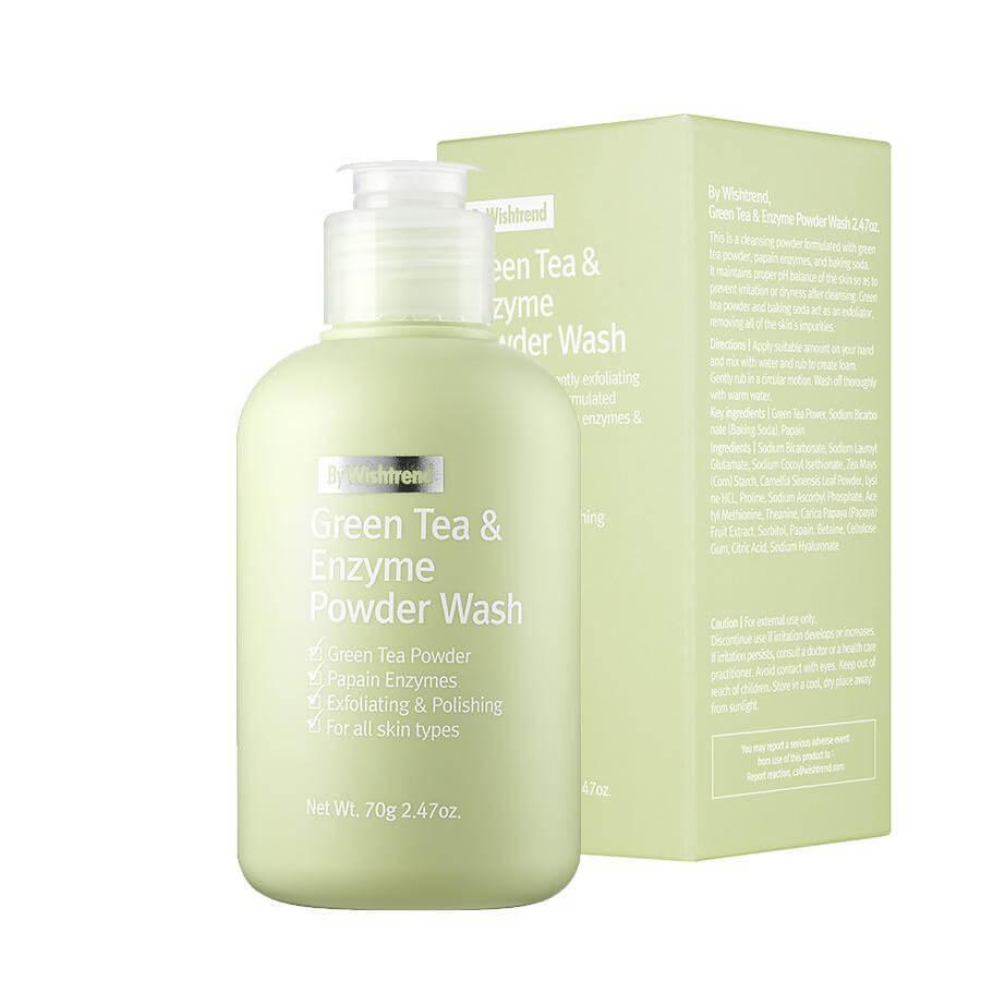 Энзимная пудра By Wishtrend Green Tea & Enzyme Powder Wash 70 г.