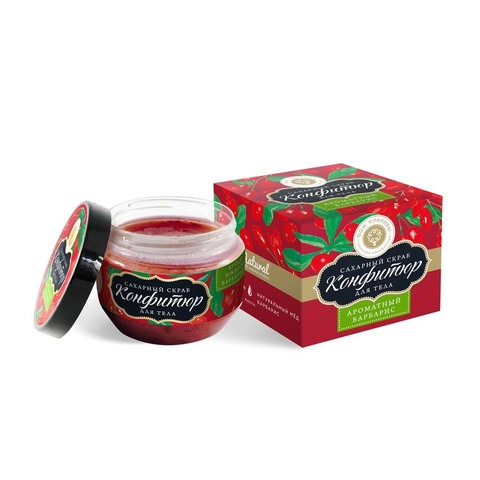 Сахарный скраб для тела (конфитюр) «Ароматный барбарис»
