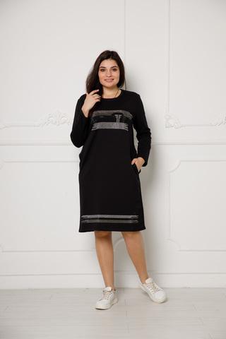 Платье с камнями цвет черный