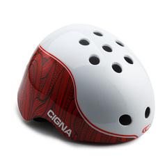 Шлем велосипедный детский Cigna WT-025 (белый/красный)