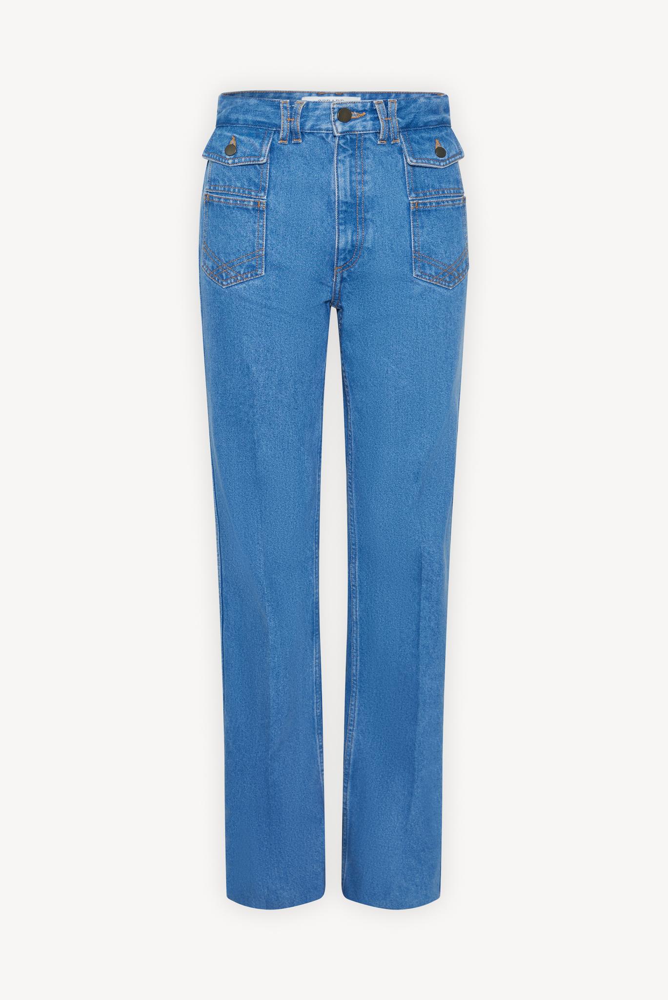 AVA - Прямые джинсы с оригинальными карманами
