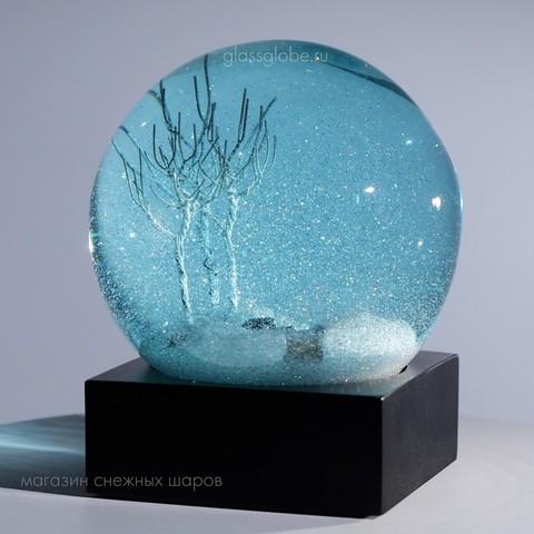 Коллекционный шар с блёстками Зимний Вечер