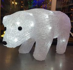 Медведь акриловый светодиодный