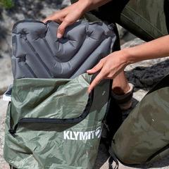 Подушка сиденье надувная Klymit V seat серая 12VSGR01B - 2