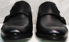 Мужские туфли из натуральной кожи весна осень Ikoc 2205-1 BLC.