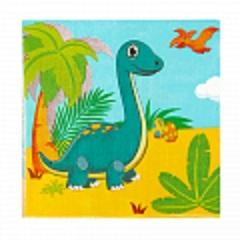 Салфетки, Динозаврики, 33*33 см, 12 шт, 1 уп.