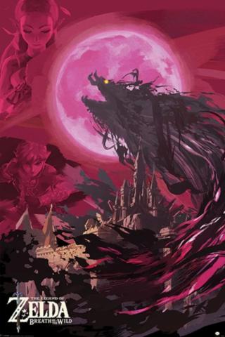 Постер The Legend Of Zelda: Breath Of The Wild (Ganon Blood Moon) 245-PP34298