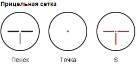 ПРИЦЕЛ КОЛЛИМАТОРНЫЙ PILAD P ВОМЗ 1X42 (ЛАСТОЧКИН ХВОСТ)