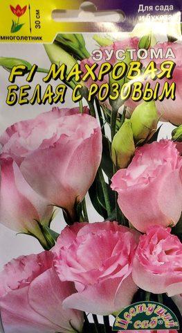 Семена Эустома Белая с розовым F1