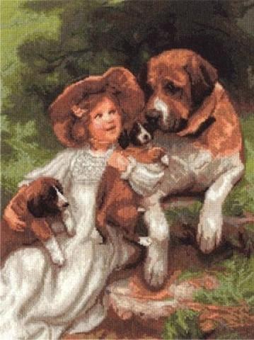 ВХ-1328 Девочка с собаками