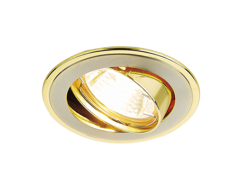 Встраиваемый точечный светильник 104A SN/G сатин никель/золото MR16