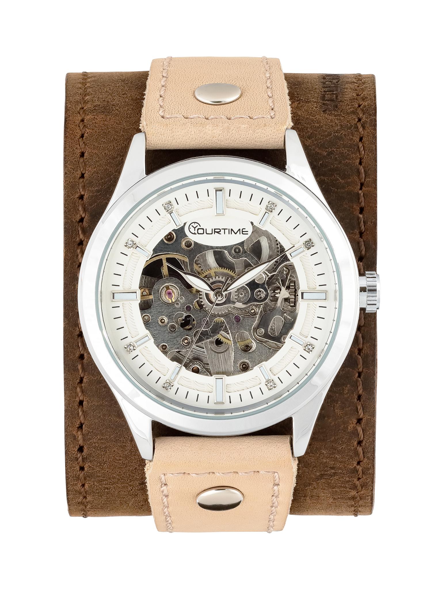 Часы скелетоны женские механические Age YOURTIME