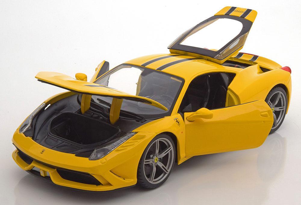 Коллекционная модель Ferrari 458 Speciale 2014 Yellow