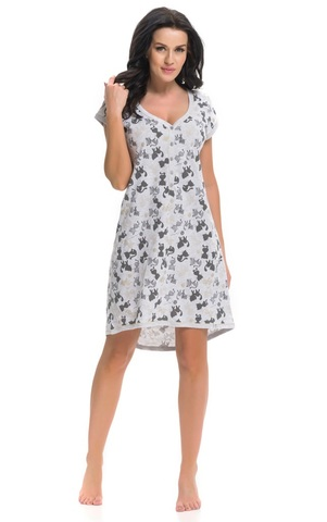 Платье-сорочка из хлопка