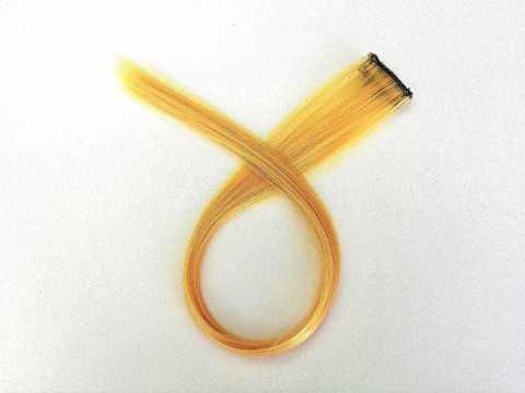 Пряди для волос, цвет желтый. Длина 47см. (1404)