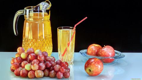 Сок натуральный яблочно-виноградный восстановленный