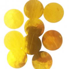 Конфетти тишью, Круги, Желтый, 1,5 см, 25гр.