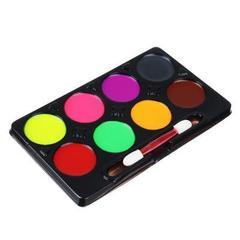 Люминесцентный набор грима для детей, 8 цветов