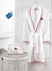 Набор женский халат с полотенцем LILY фуксия