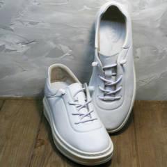 Кожаные кроссовки кеды белые женские Rozen M-520 All White.