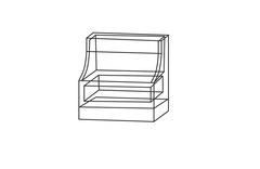 Мария-Луиза Тумба прикроватная с 1 ящиком