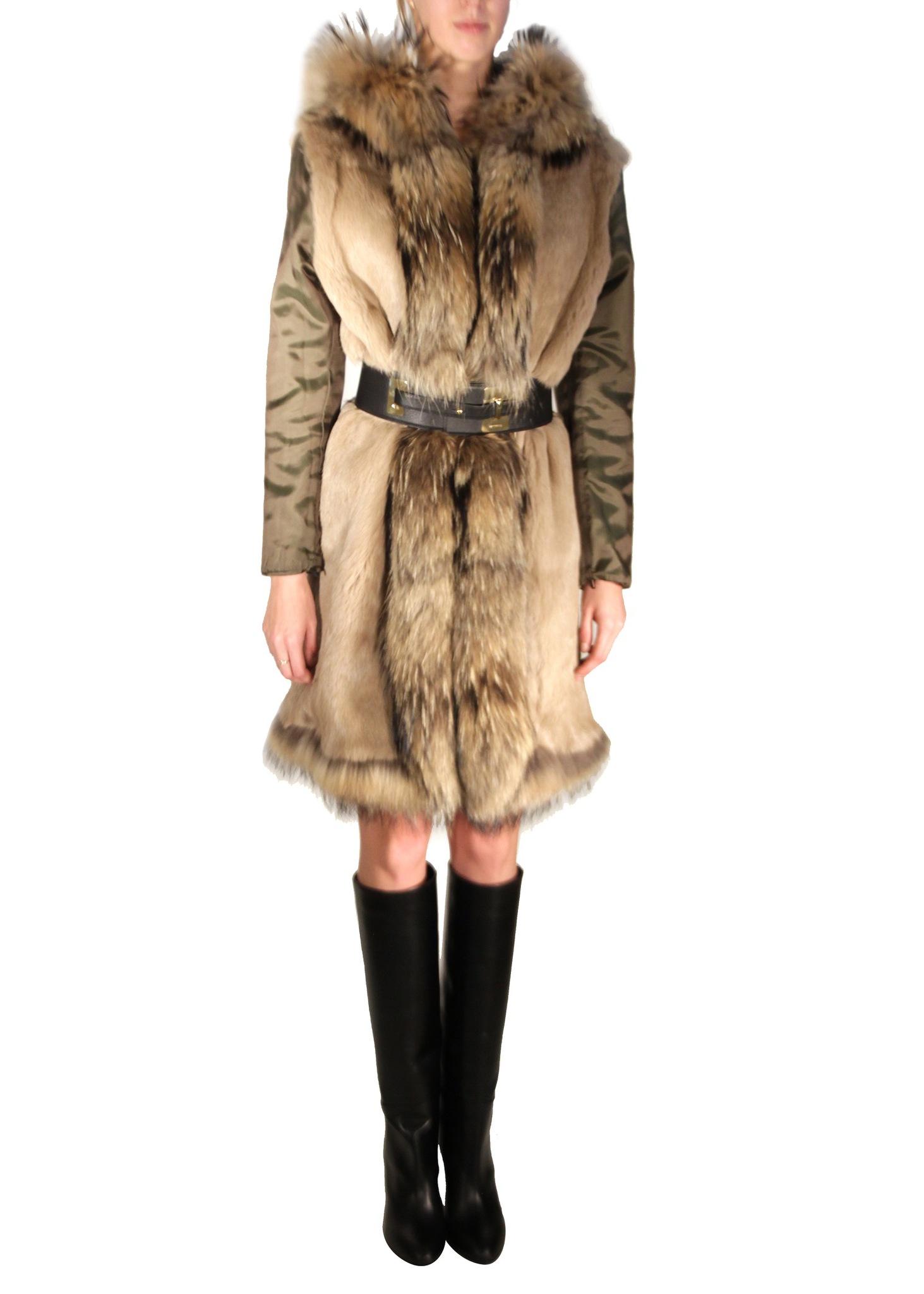 Пальто меховое двухслойное ETRO