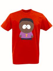 Футболка с принтом мультфильма Южный парк (South Park) красная 009