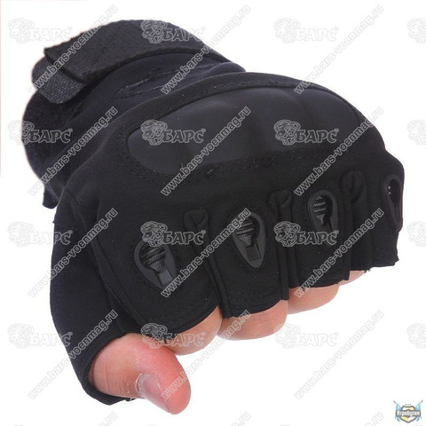Тактические перчатки Oakley без пальцев TG-1 (Чёрные)