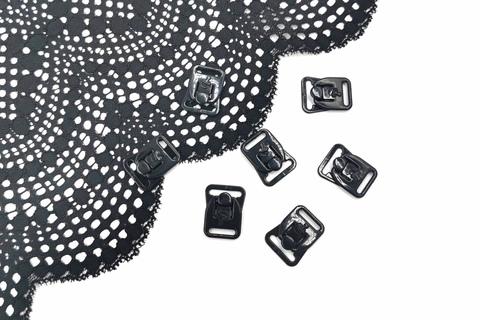 Застежка к бюстгальтеру для кормления, черный, 15 мм, пара