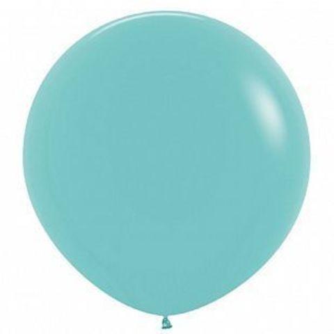 №18 Аквамарин Гелиевый шар пастель 60см с обработкой