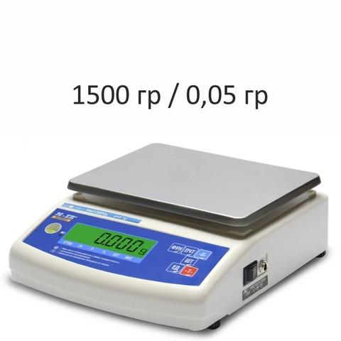 Купить Весы лабораторные/аналитические Mertech M-ER 122ACF-1500.05 Accurate, LCD, АКБ, 1500гр, 0,05гр, 140х180, с поверкой, высокоточные